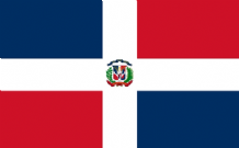 DOMINICAN REPUBLIC - HAND WAVING FLAG (MEDIUM)